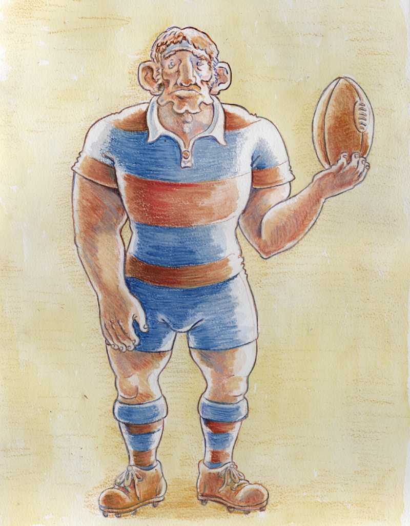 Rugby Player Colour