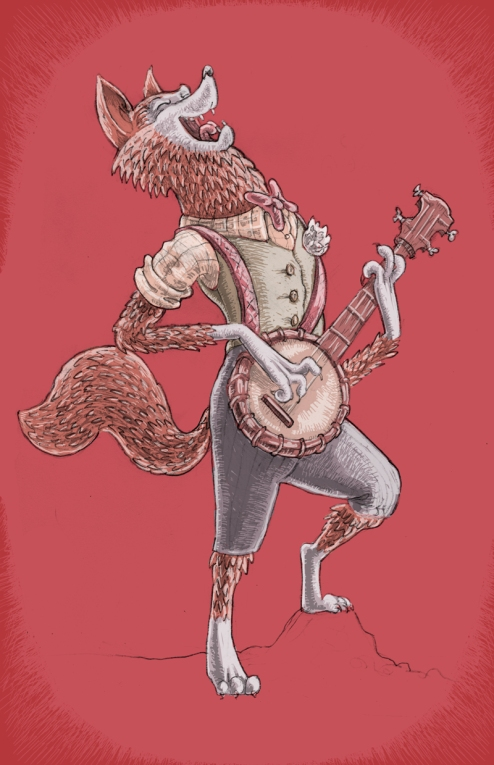 Fox Playing Banjo
